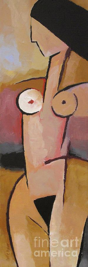 Female Nude Painting - Figurative by Lutz Baar