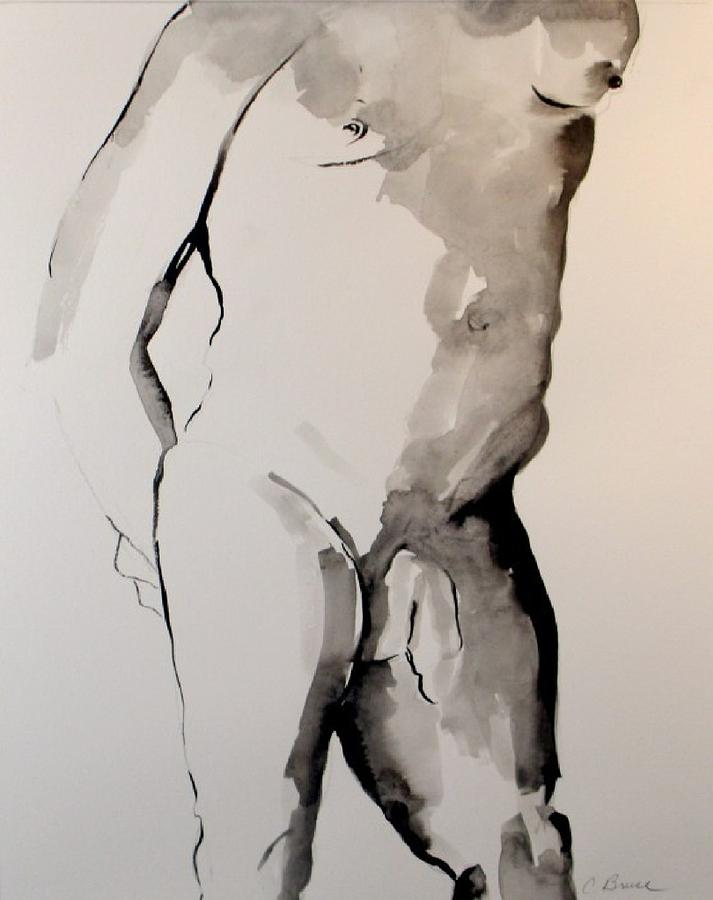 Male Drawing - Figure 7 Male Nude by Craig  Bruce