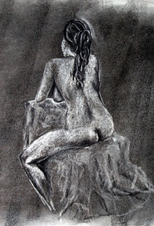 Nude Drawing - Figure Drawing 2 by Corina Bishop