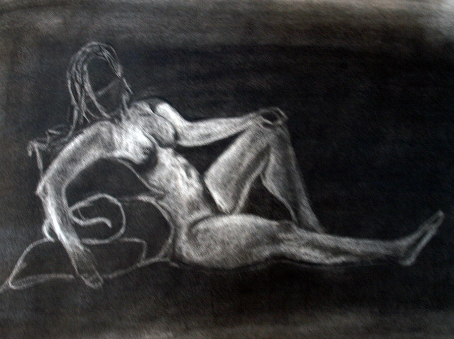 Nude Drawing - Figure Drawing by Corina Bishop