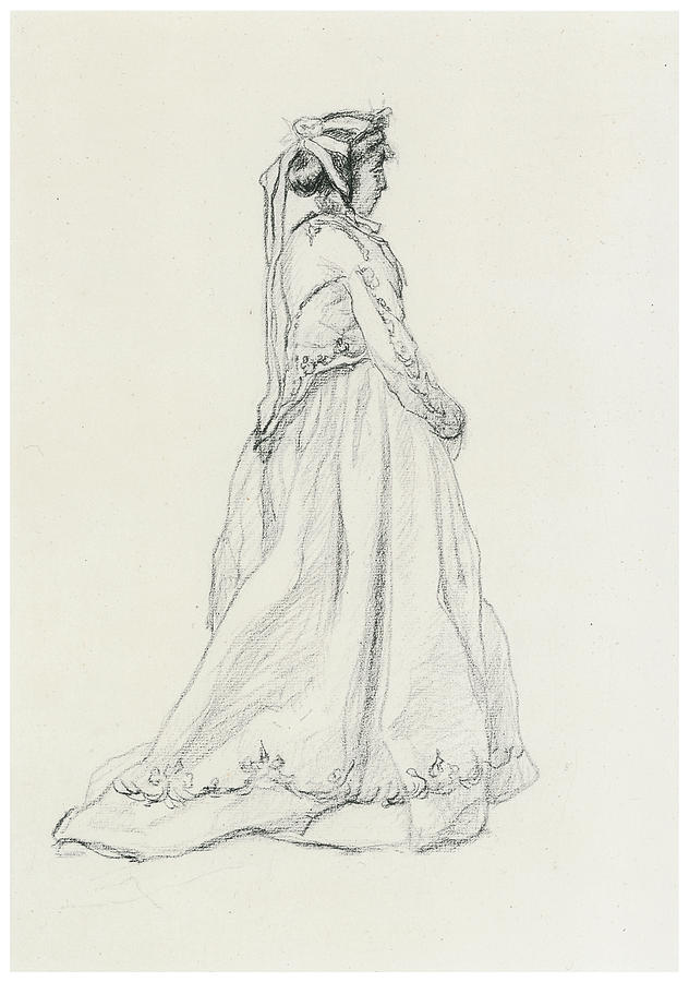 Figure Of A Woman Drawing by Claude Monet