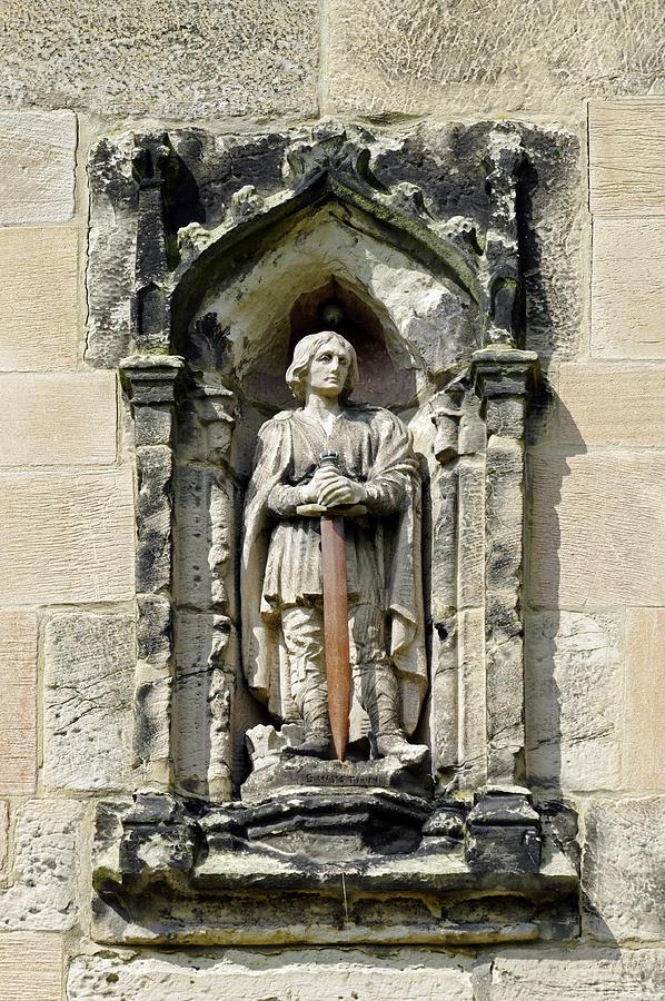 Derbyshire Photograph - Figure Of St Wystan Above Porch Door by Rod Johnson