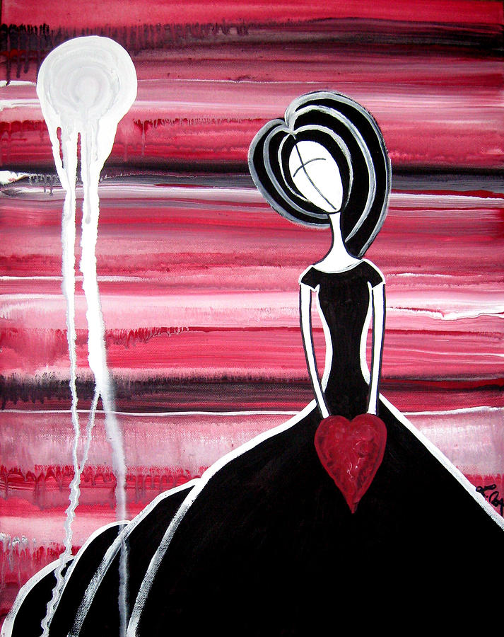 Figure Painting - I Hold Your Heart In My Hands Painting by Laura Carter