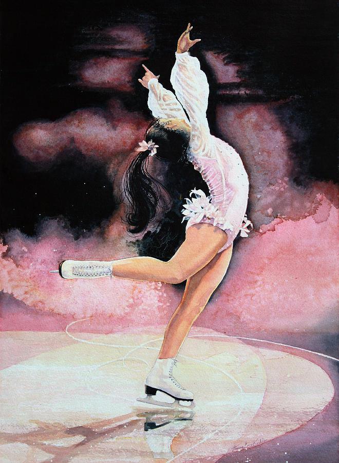 Childrens Book Illustrator Painting - Figure Skater 20 by Hanne Lore Koehler