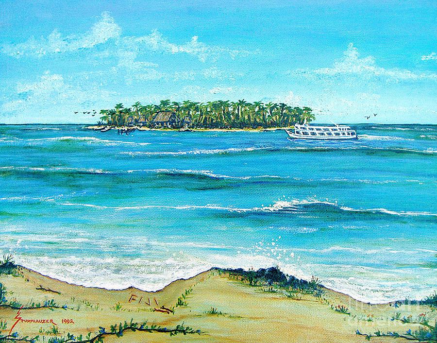 fiji blue lagoon painting by jerome stumphauzer. Black Bedroom Furniture Sets. Home Design Ideas