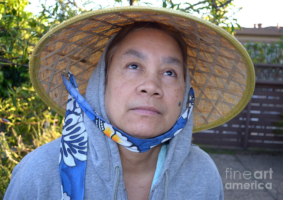 Conical Hat Photograph - Filipina Woman With A Mole On Her Cheek And Wearing A Conical Hat II by Jim Fitzpatrick