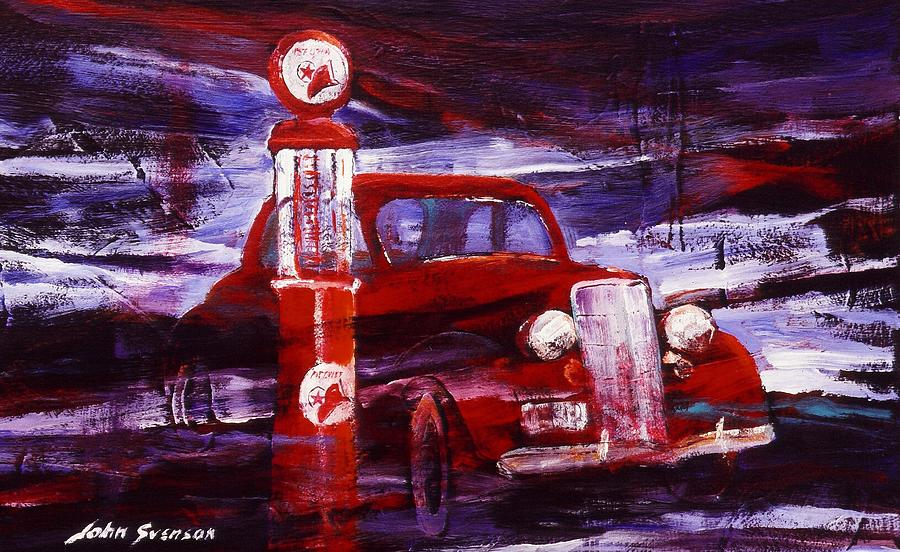 Gas Pumps Painting - Fill Er Up 1935 by John  Svenson