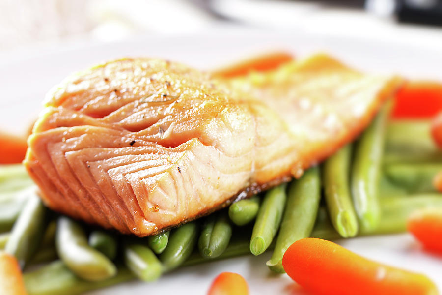 Fillet Of Salmon Photograph by Svariophoto
