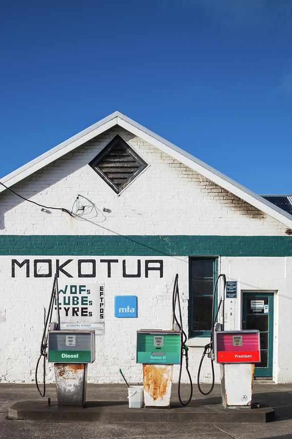 Vertical Photograph - Filling Station, Mokotua, The Catlins by Panoramic Images