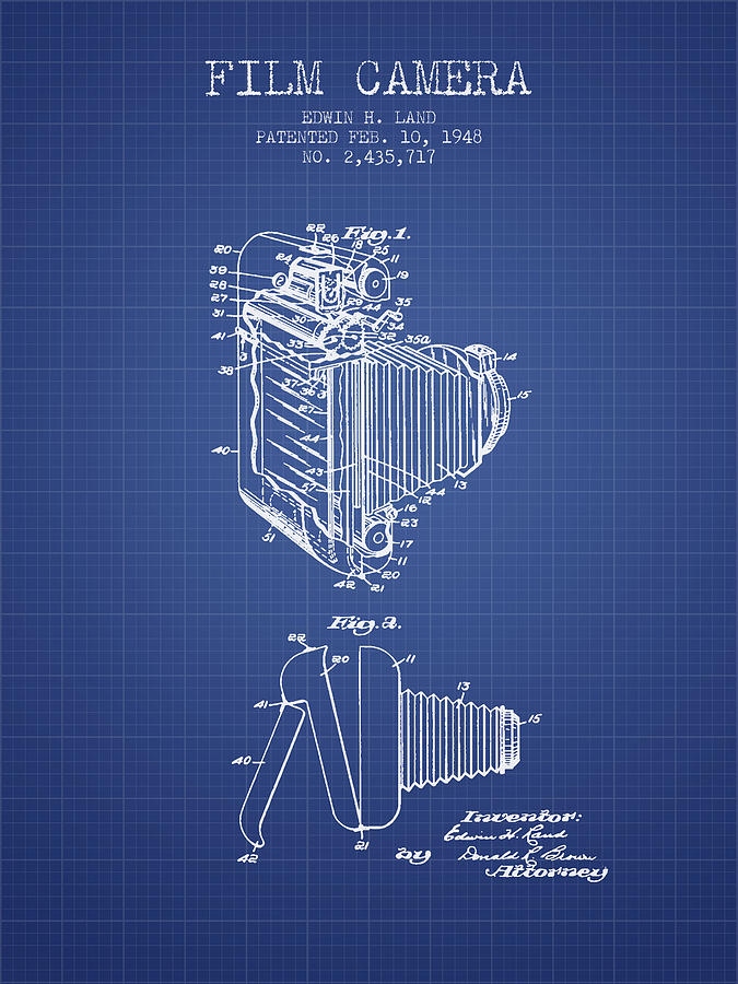 Film camera patent from 1948 blueprint digital art by aged pixel camera digital art film camera patent from 1948 blueprint by aged pixel malvernweather Images
