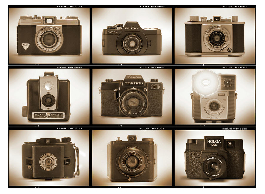 Vintage Film Cameras Photograph - Film Camera Proofs 3 by Mike McGlothlen