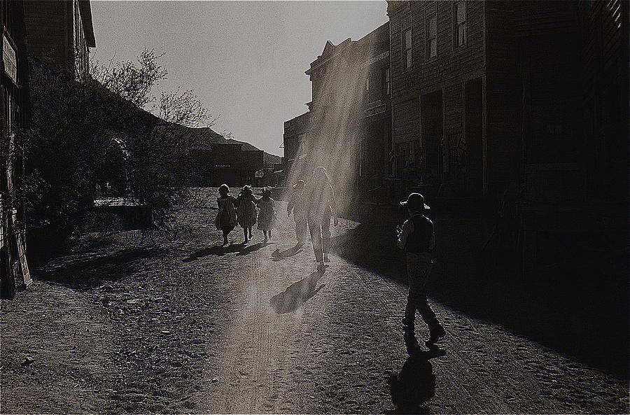 Film Homage Kirk Douglas Posse 1975 Kansas Street Old Tucson Arizona Photograph by David Lee Guss