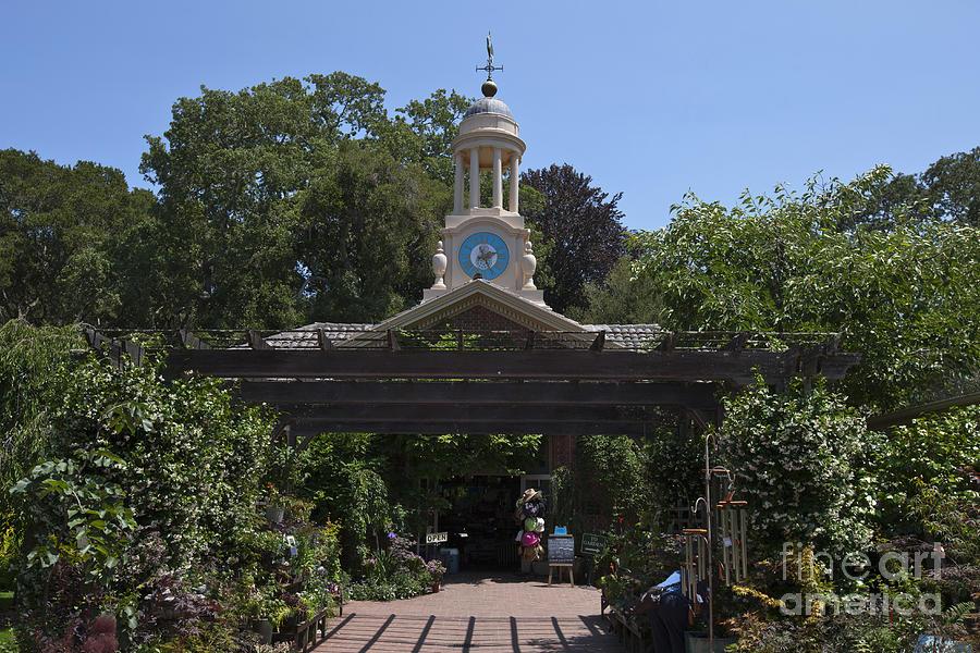 Filoli Photograph - Filoli Clock Tower Garden Shop by Jason O Watson