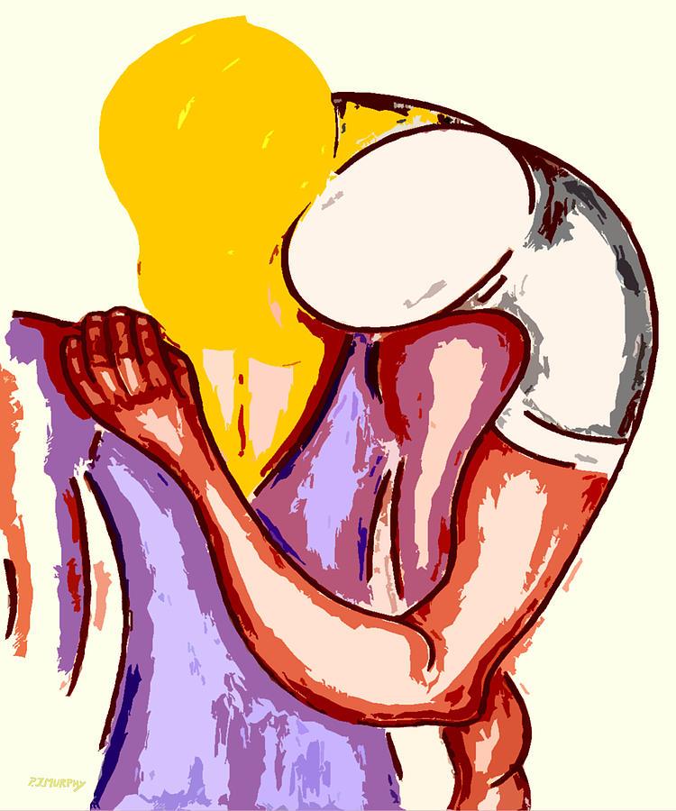 Love Painting - Final Embrace by Patrick J Murphy