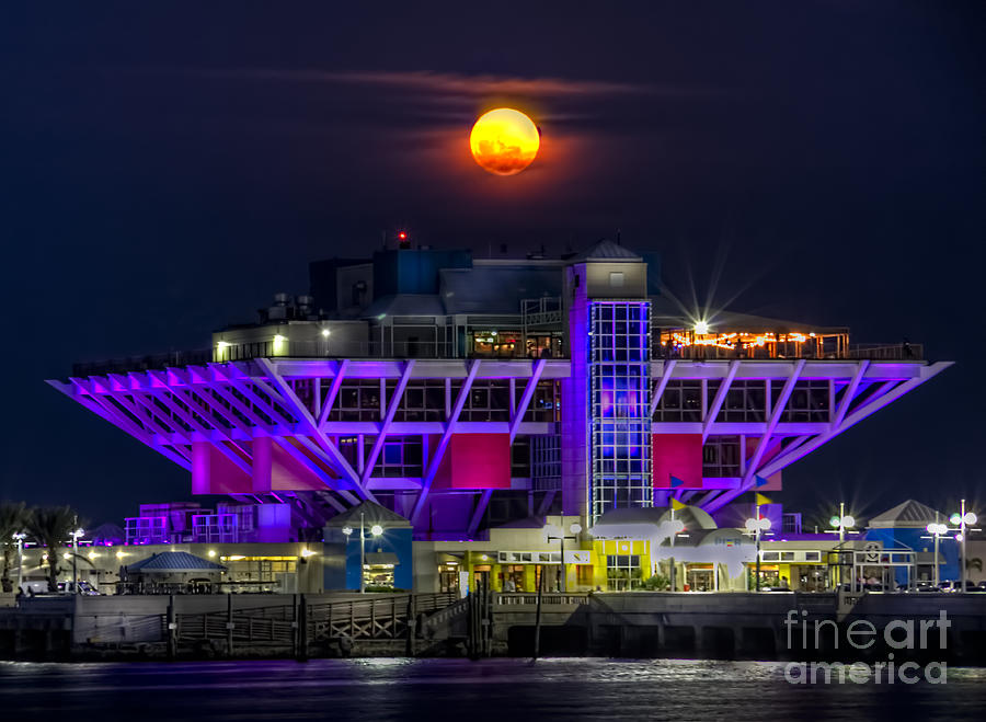 Pier Photograph - Final Moon Over The Pier by Marvin Spates