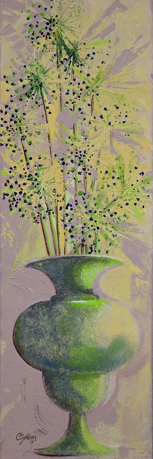 Allium Painting - Finale by Candy Zohbon
