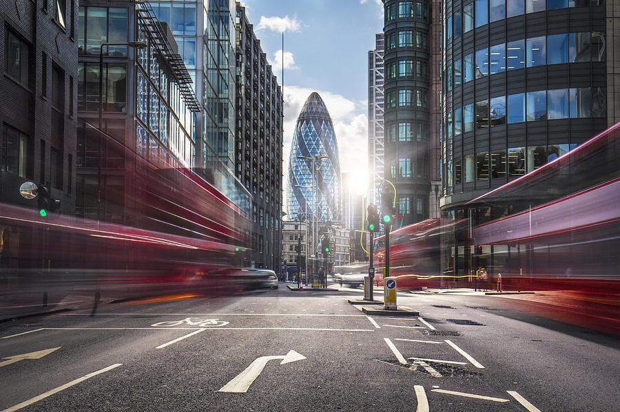 Financial district of London Photograph by Xavierarnau