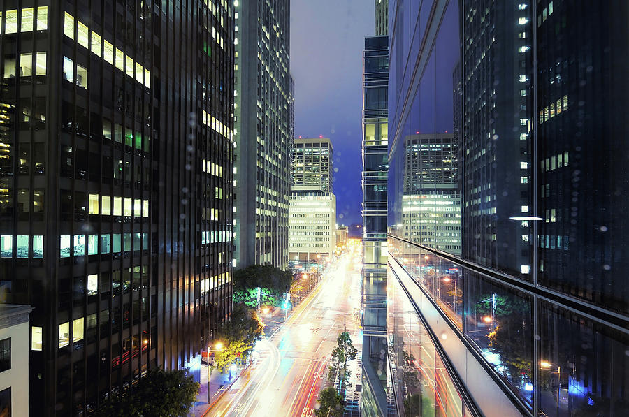 Financial District Office Buildings At Photograph by Andrew C Mace