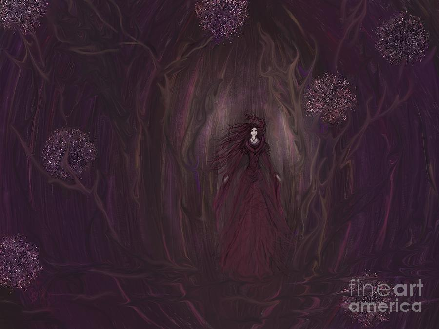 Forest Painting - Finding My Way by Roxy Riou