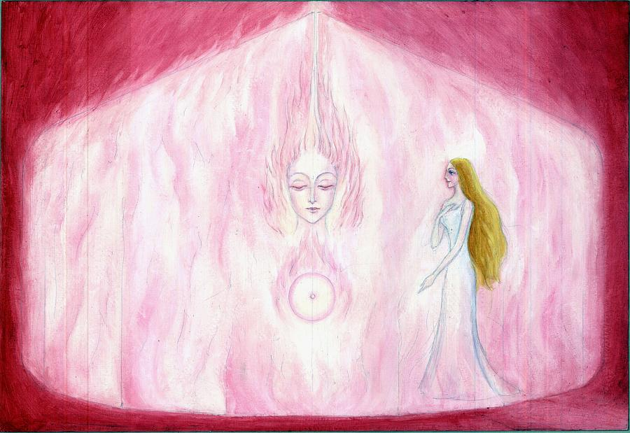 Psychic Painting - Finding Of The True Consciousness by Shiva  Vangara