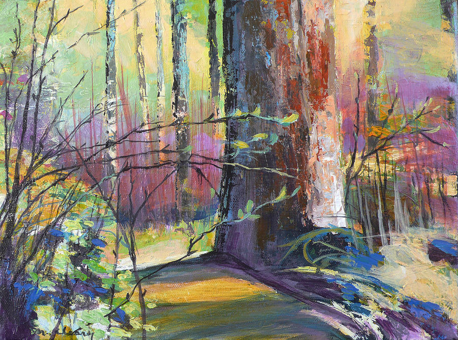 Tree Painting - Finding The Forest by Melody Cleary