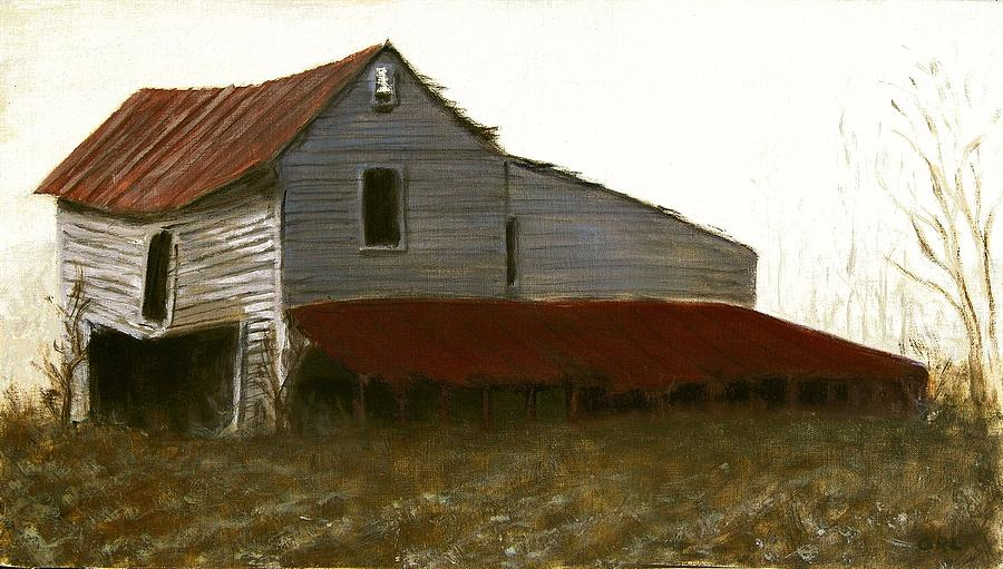 Fine Art Oil Painting North Carolina Barn Painting by G