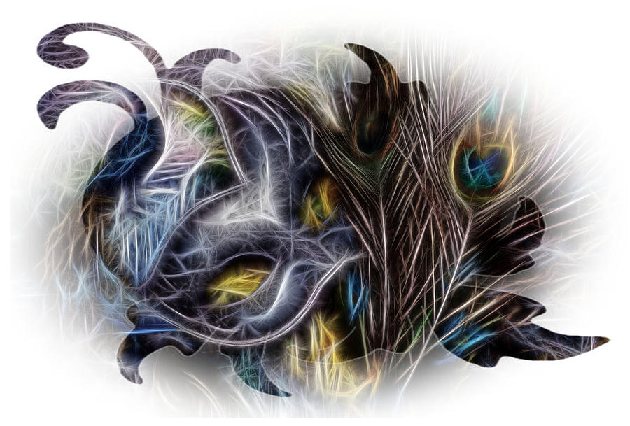 Mask Photograph - Fine Feathered Fantasy by Cindy Nunn