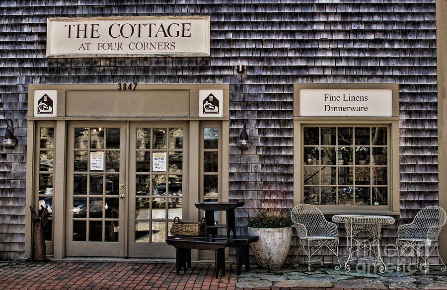 The Cottage Photograph - Fine Shopping In Tiverton by Nancy De Flon