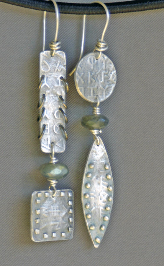 Jewelry Jewelry - Fine Silver Mismatched Earrings by Mirinda Kossoff