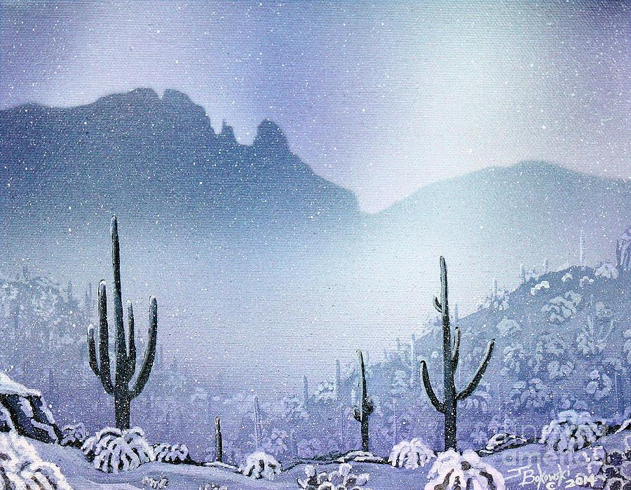 Finger Rock Snowfall by Jerry Bokowski