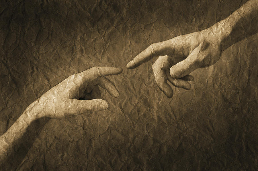 Concept Photograph - Fingers Almost Touching by Don Hammond