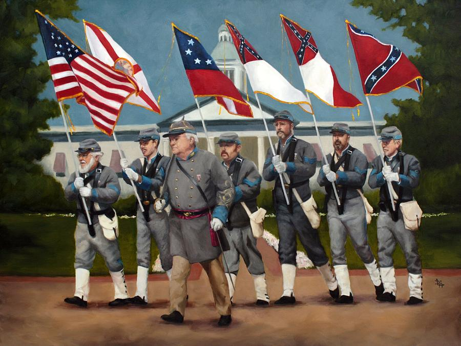 Confederate Army Painting - Finleys Brigade by Deborah Allison