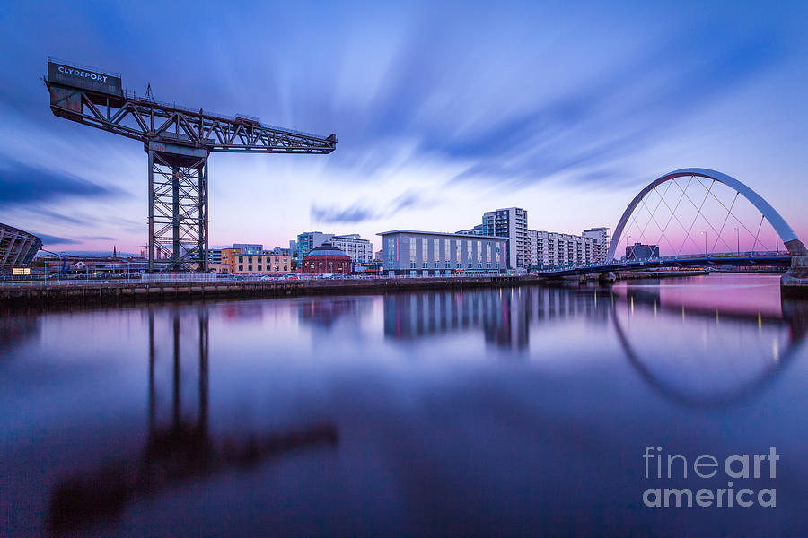 Secc Photograph - Finnieston Crane And Glasgow Arc by John Farnan