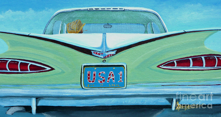 Chevy Painting - Fins by Anthony Dunphy