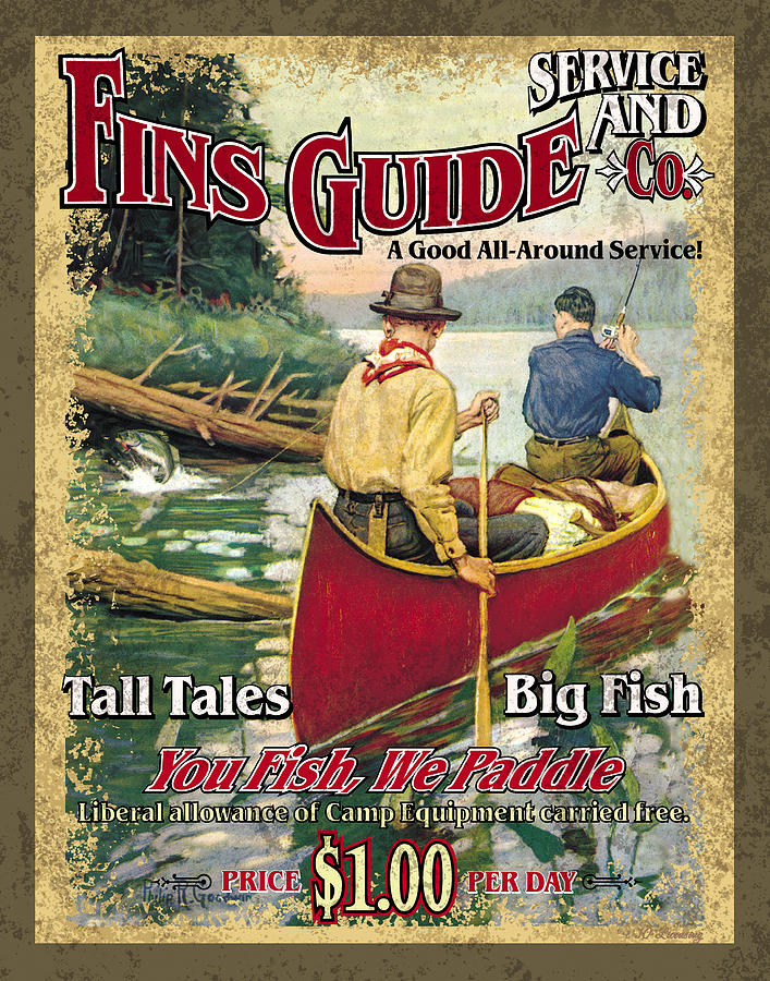 Philip Goodwin Painting - Fins Guide Service by JQ Licensing