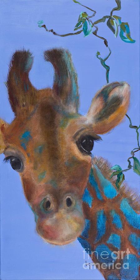 Giraffe Painting - Fiona by Lynn Rattray