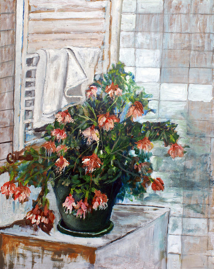 Flowers Painting - Fiori In Bagno by Niki Mastromonaco