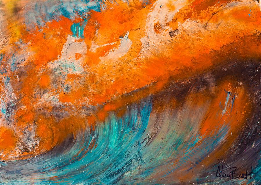 Landscape Painting - Fire by Adam Brett