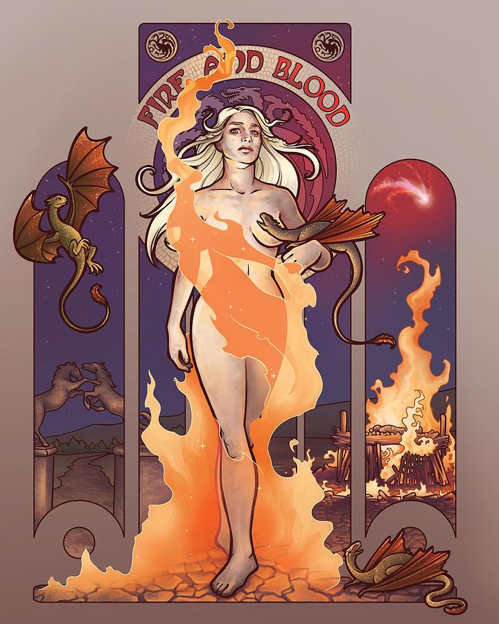 Fire And Blood Digital Art - Fire And Blood by Dani Kaulakis
