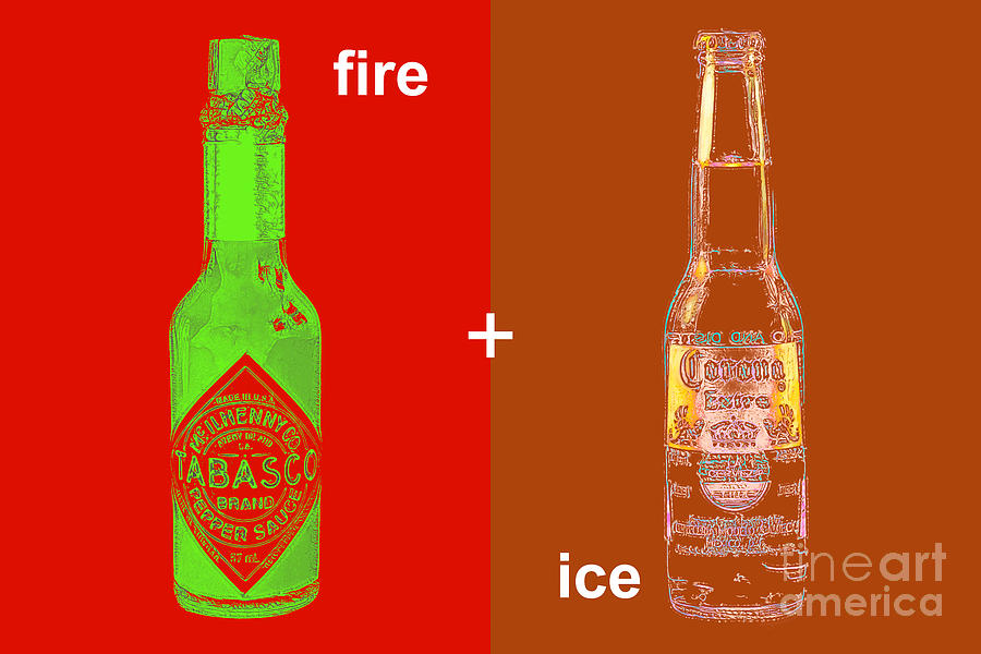 Beer Photograph - Fire And Ice 20130405 by Wingsdomain Art and Photography