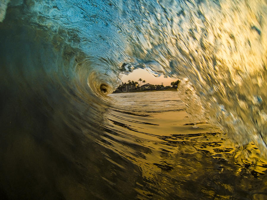 Wave Photograph - Fire And Ice by Brad Scott