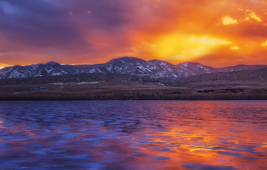 Sunset Photograph - Fire And Ice by Darren  White