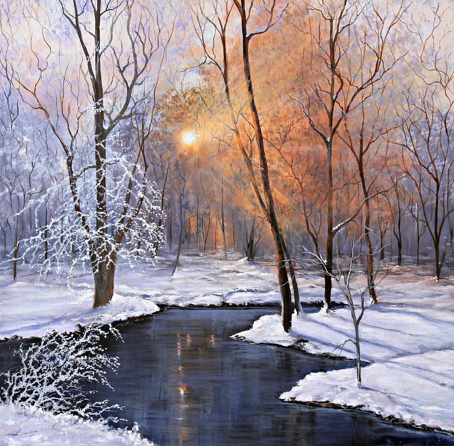 Frozen Painting - Fire And Ice by Julie Townsend