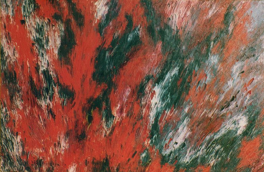 Abstract Painting - Fire And Ice by Kusum Shukla