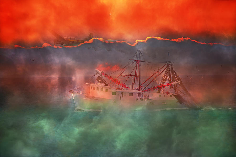 Boat Photograph - Fire And Ice Misty Morning by Betsy Knapp