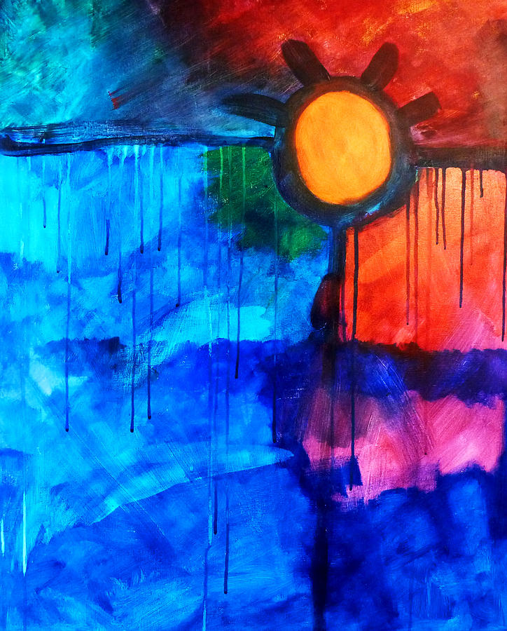 Fire And Ice Painting - Fire And Ice by Nancy Merkle