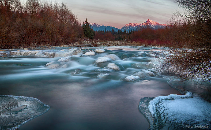 Landscape Photograph - Fire And Ice by Peter Svoboda, Mqep