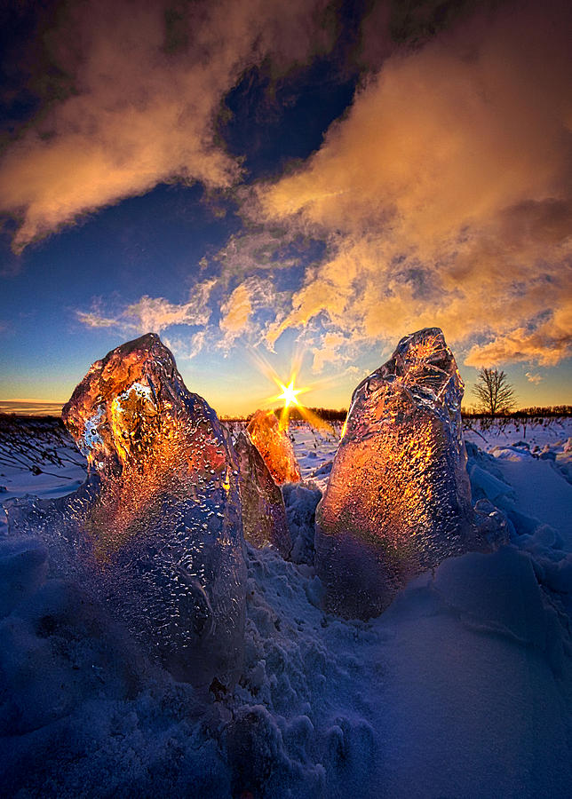 Snow Photograph - Fire And Ice by Phil Koch
