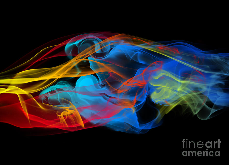 Abstract Photograph - Fire And Ice Smoke  by Jt PhotoDesign
