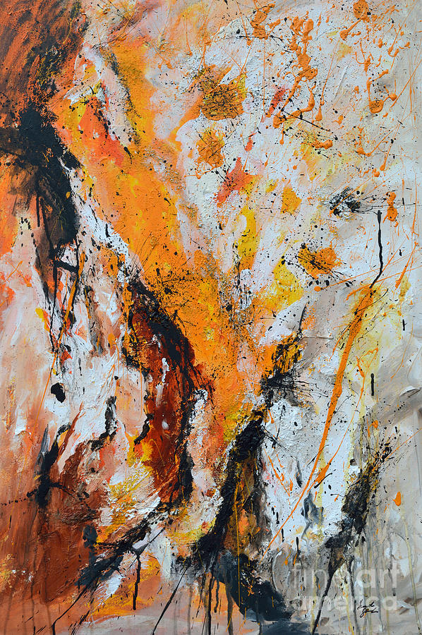 Abstract Painting Painting - Fire And Passion - Abstract by Ismeta Gruenwald
